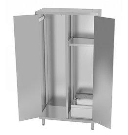 Kast met wasbak en dubbele klapdeur | 1000mm breed | 500mm diep | 1800mm hoog