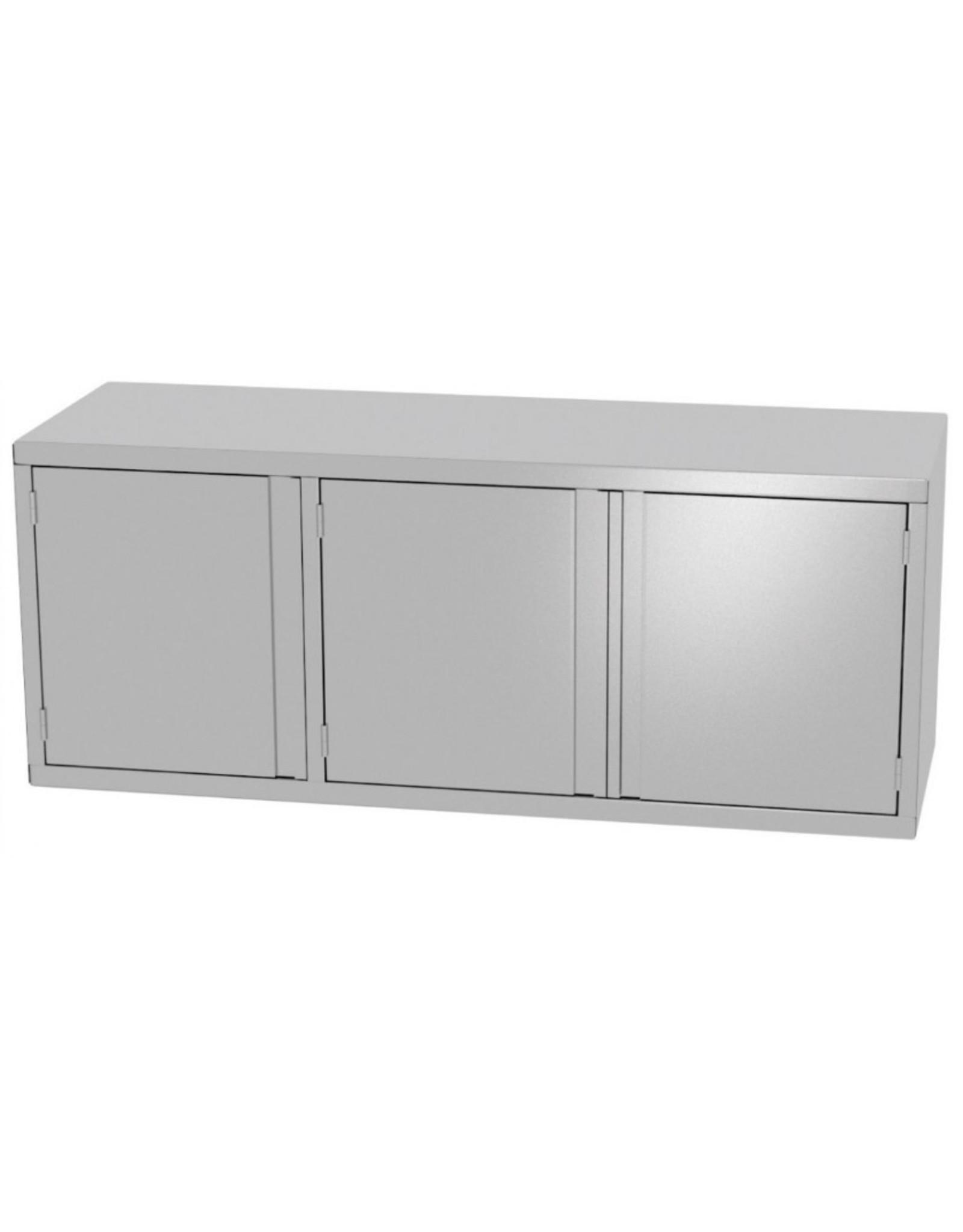 Wandkast | met 3 klapdeuren | 1400-1600mm breed | 300 of 400mm diep | 600mm hoog