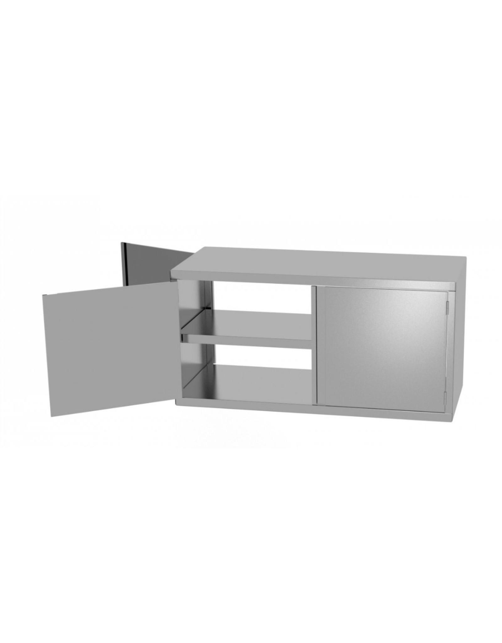 Wandkast pass-through | met 2 klapdeuren | 700-1300mm breed | 300 of 400mm diep | 600mm hoog