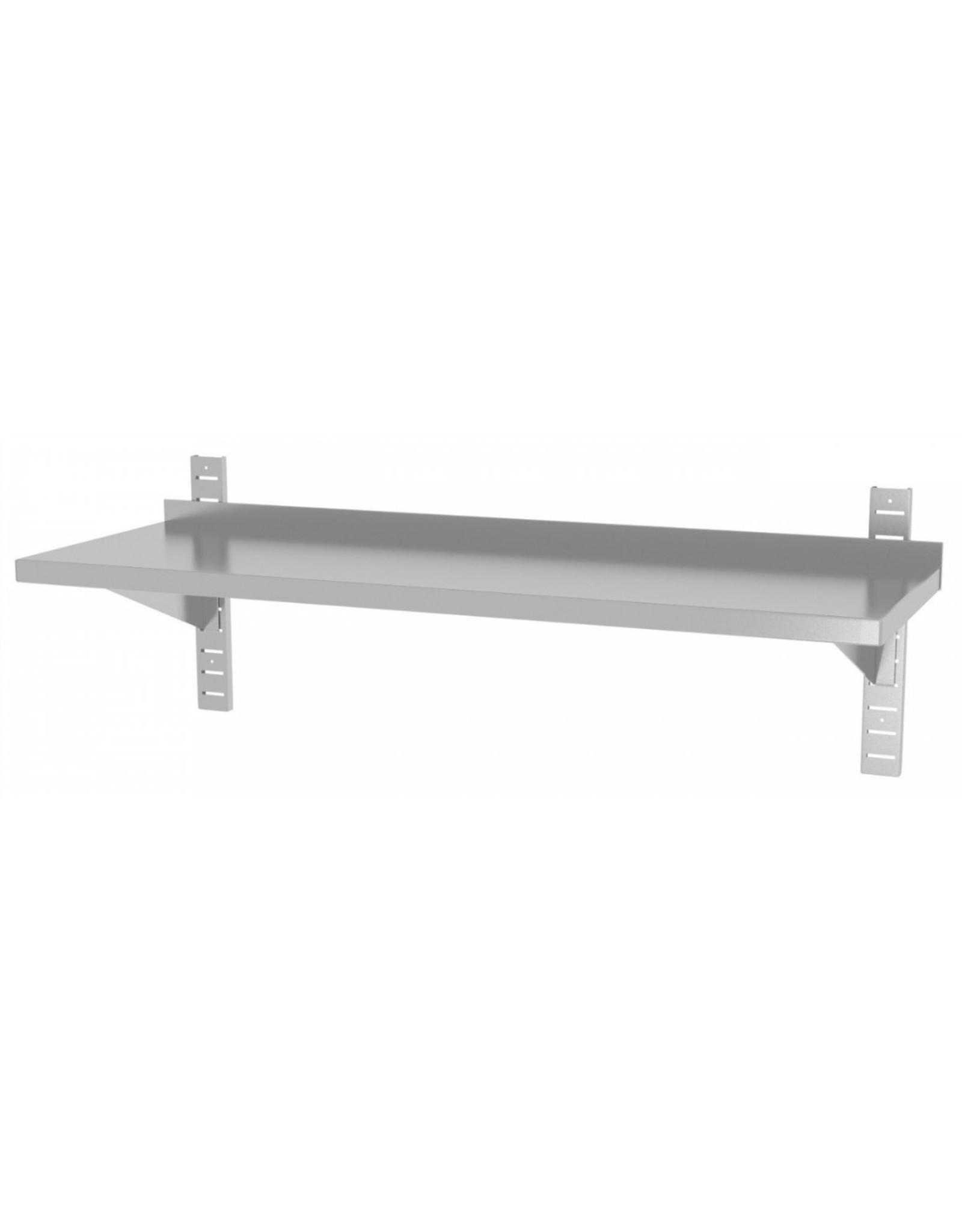 Wandplank   1 plank   met 2 beugels   600-1500mm breed   300 of 400mm diep
