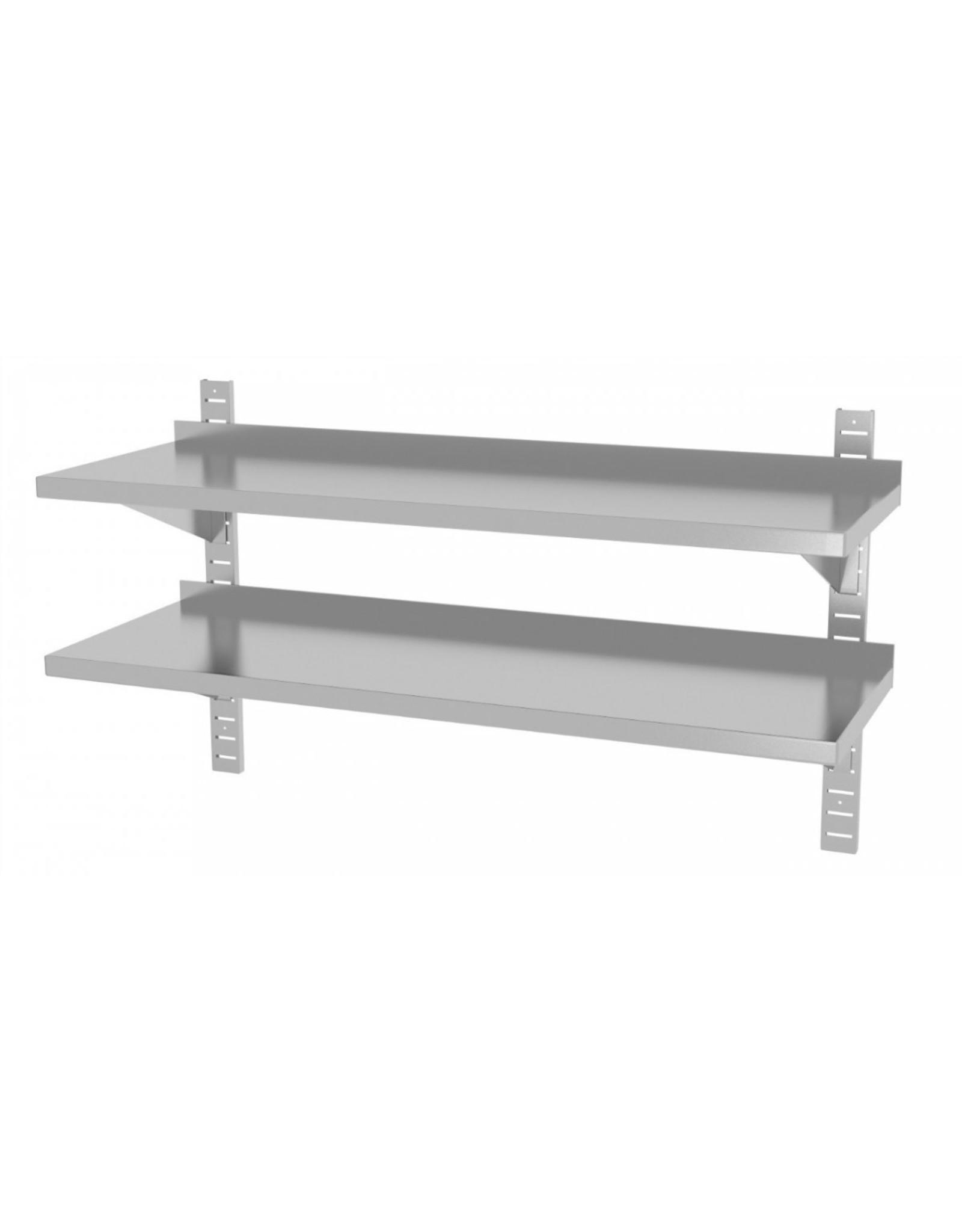 Wandplank | 2 planken | met 2 beugels | 600-1500mm breed | 300 of 400mm diep