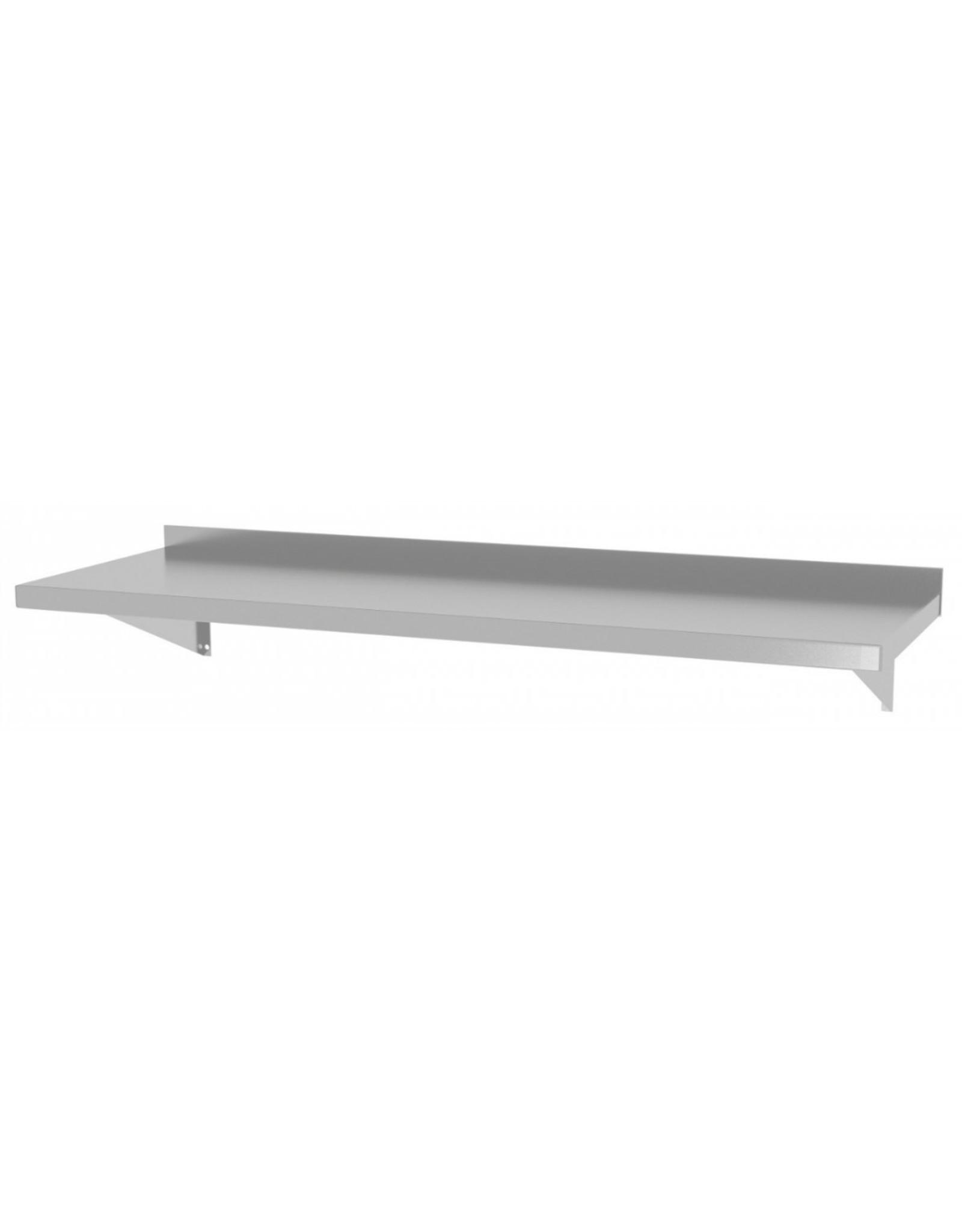 Wandplank vast model | met 2 beugels | 600-1500mm breed | 300 of 400mm diep