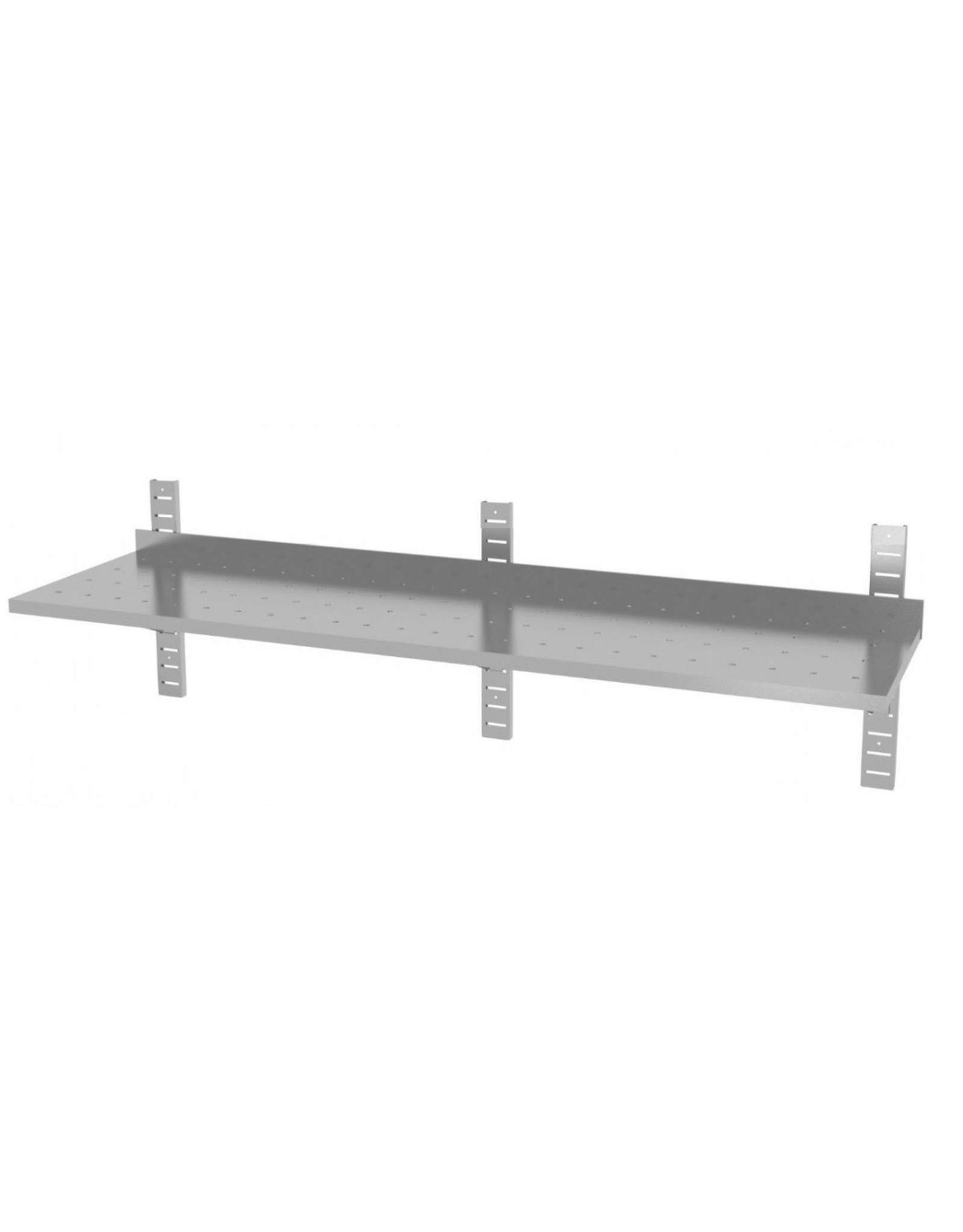 Wandplank geperforeerd | 1 plank | met 3 beugels | 1600-2000mm breed | 300 of 400mm diep