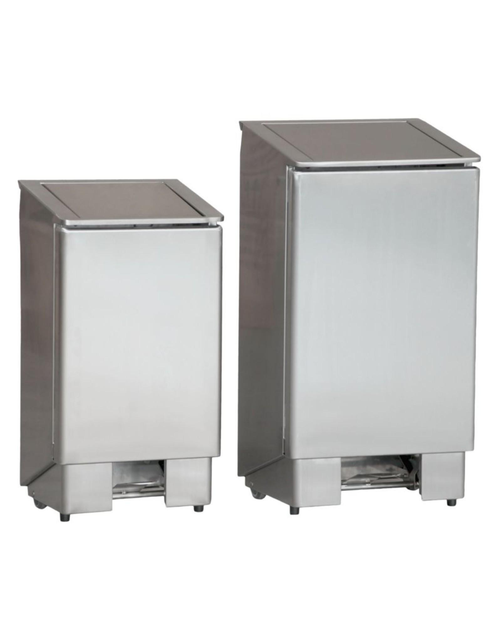 RVS afvalbak met voetpedaal | 60L | (H)80x(B)37x(D)40cm