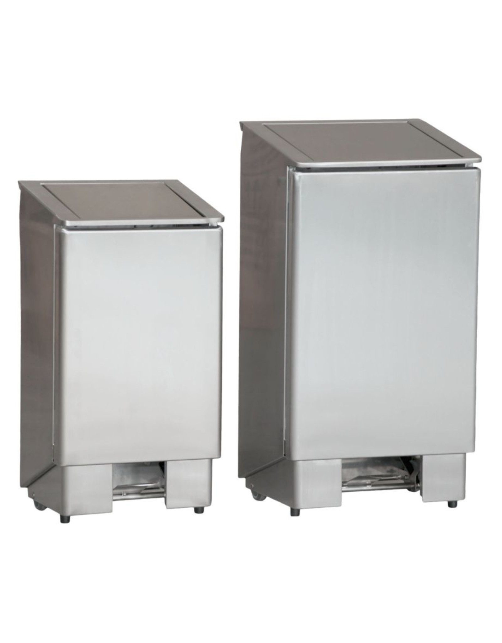 RVS afvalbak met voetpedaal | 90L | (H)91x(B)39,4x(D)36,5cm