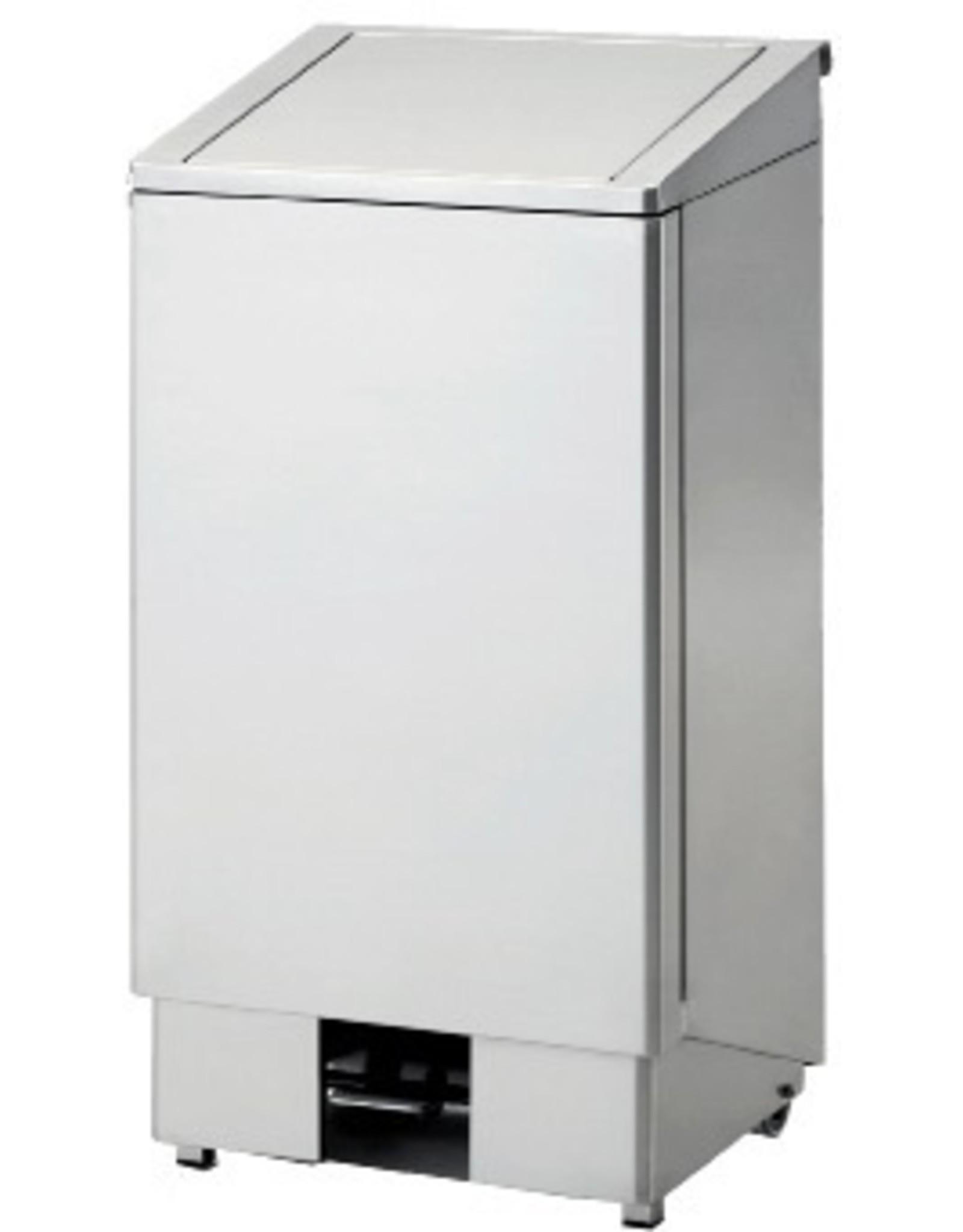 RVS pedaalafvalbak | 60L | (H)77x(B)40x(D)36cm
