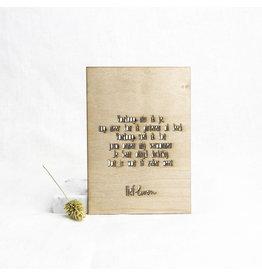 Houten kaart • Vandaag mis ik je
