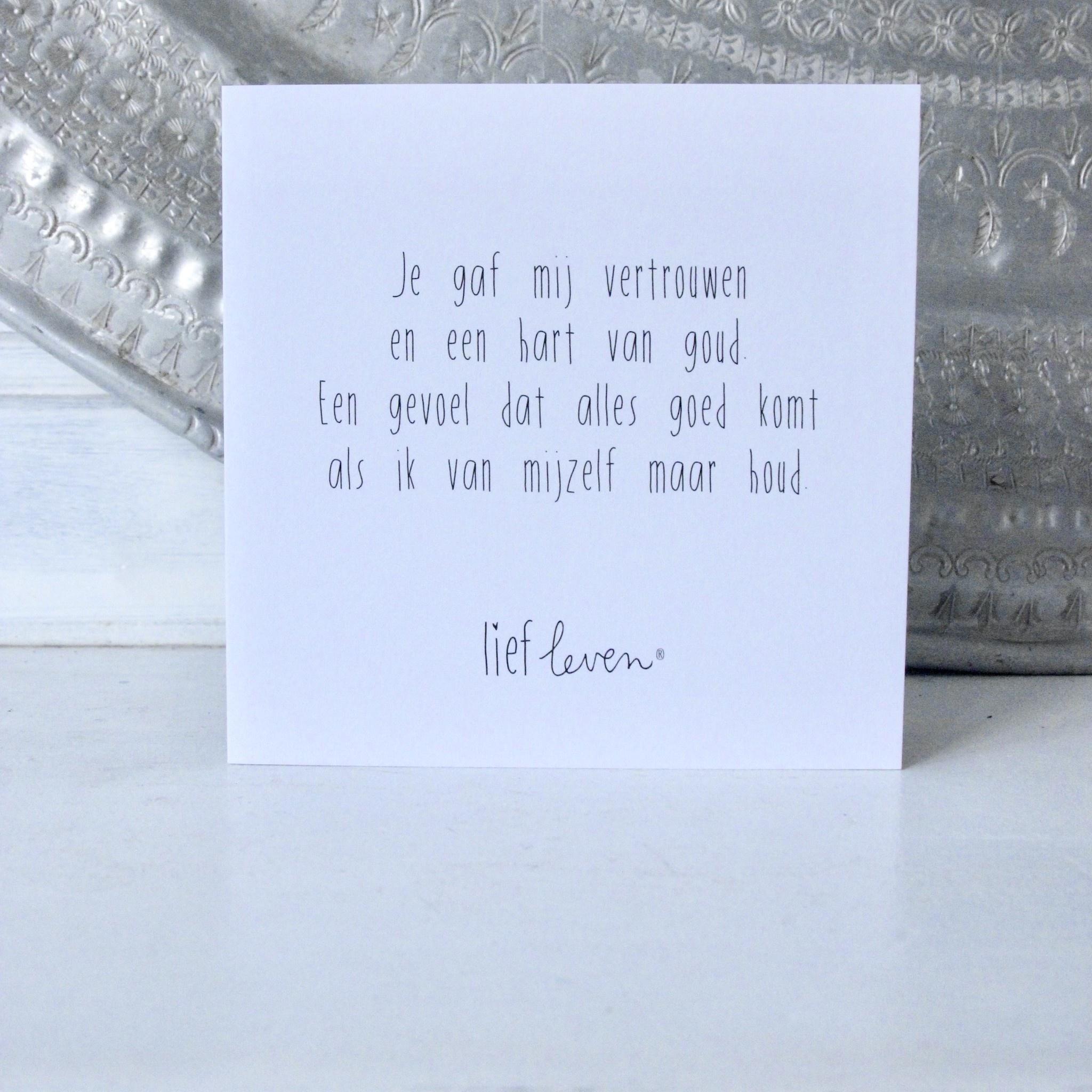 Wenskaart • Je gaf mij vertrouwen