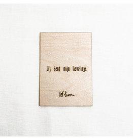 Houten kaart • Jij bent mijn lievelings