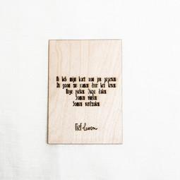 Houten kaart • Ik heb mijn hart