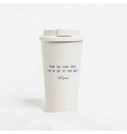 Koffie to go beker | Nieuwe dag, nieuwe kansen
