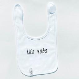 Baby slabbetje met tekst • Wit