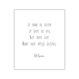 Mini Poster • Je mag nu rusten