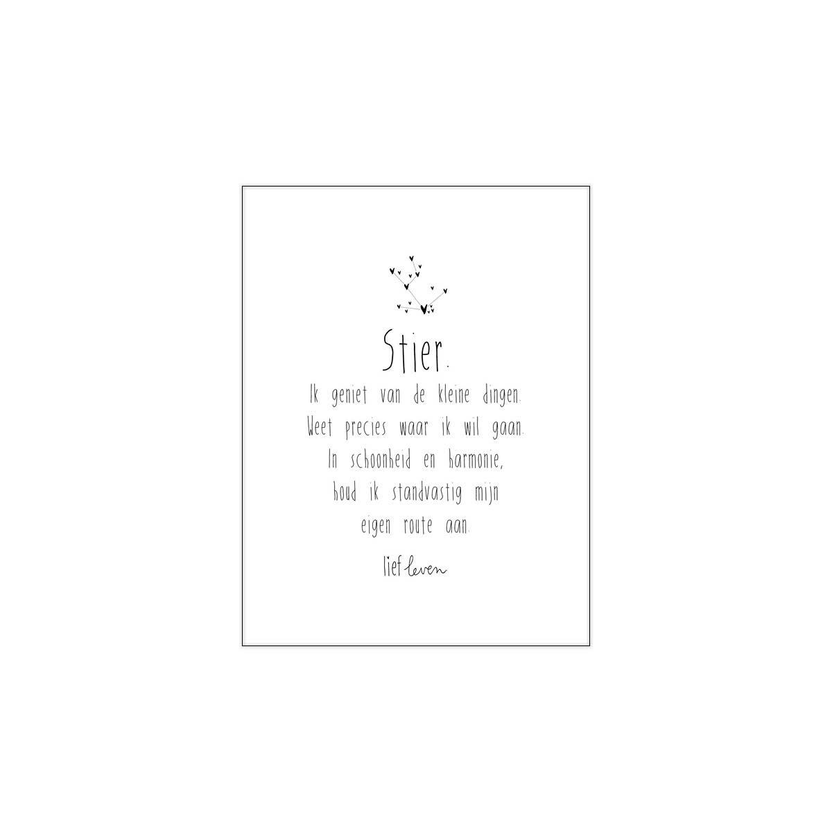 Mini Poster • Sterrenbeeld Stier