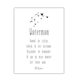Mini Poster • sterrenbeeld Waterman