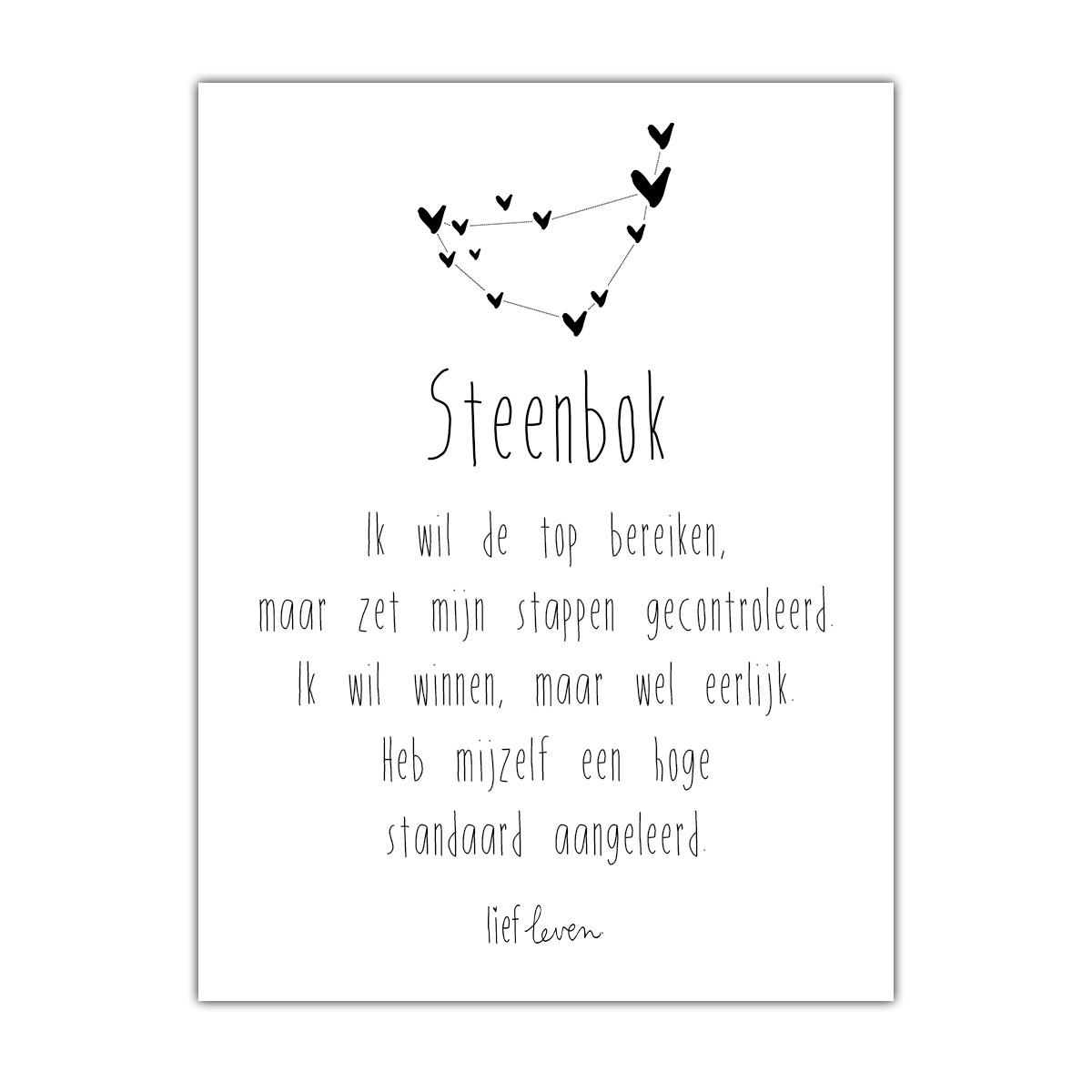 Mini Poster • sterrenbeeld Steenbok