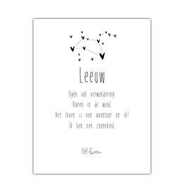 Mini Poster • Sterrenbeeld Leeuw