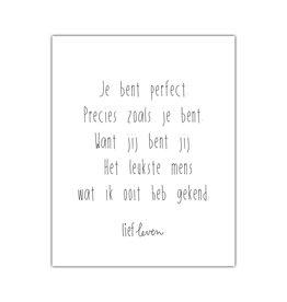 Mini Poster • Je bent perfect