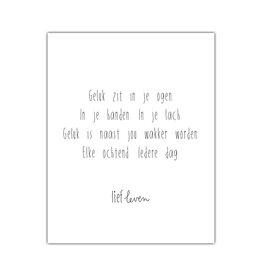Mini Poster • Geluk zit in je ogen