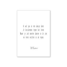 A4 Poster • Ik wil je in een doosje doen