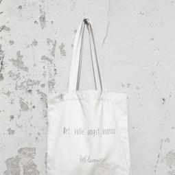Canvas Tas • Met volle angst vooruit