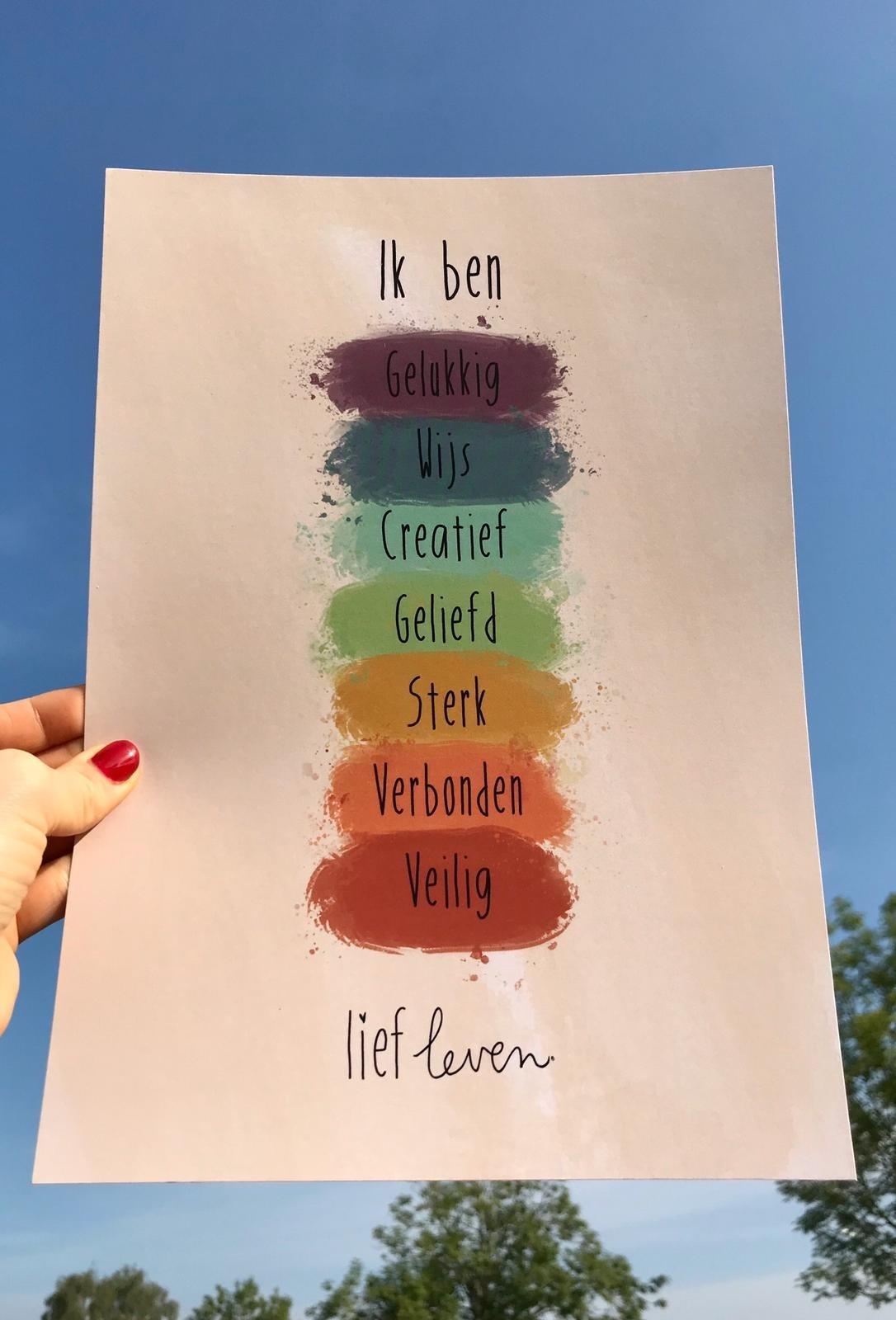 A4 Poster • Ik ben gelukkig
