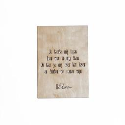Houten kaart voor papa • Je leerde mij lopen
