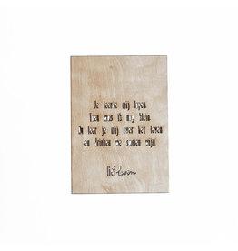 Houten kaart • Je leerde mij lopen