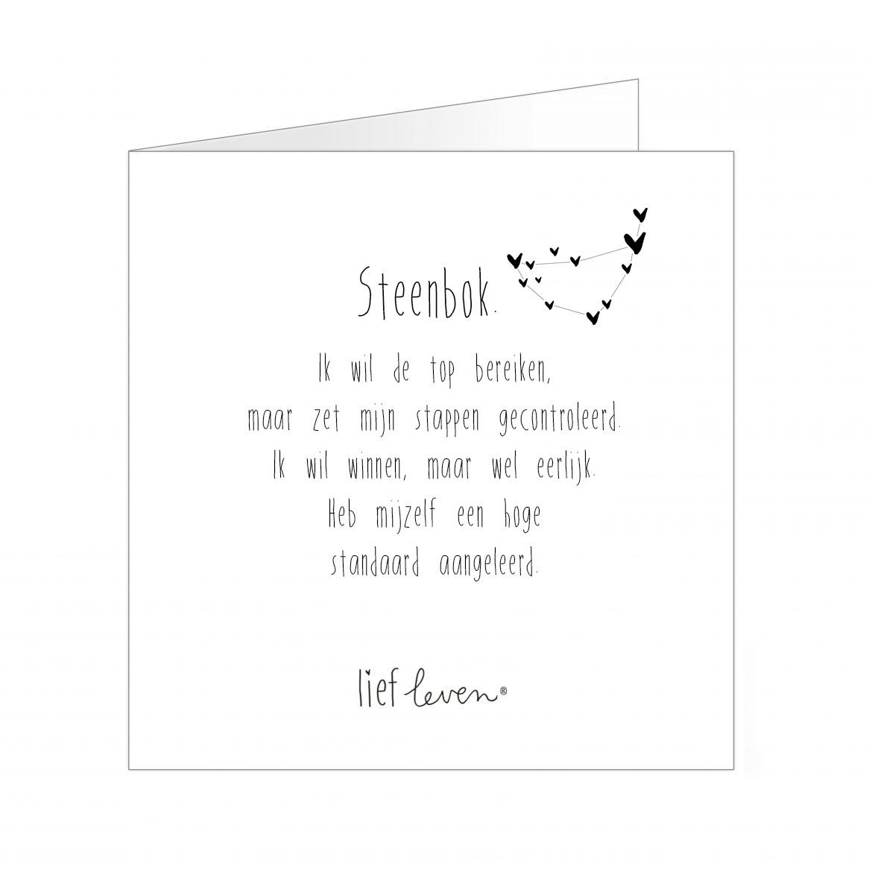 Wenskaart • sterrenbeeld Steenbok