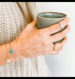 Armband steen blauw • Creativiteit