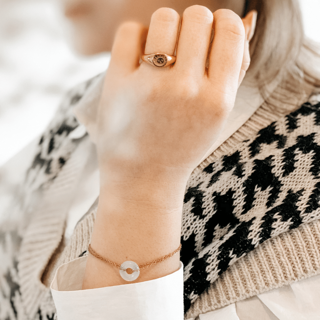 Armband steen wit • Helderheid
