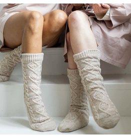 Hoge gebreide sokken /sloffen