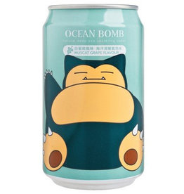Ocean Bomb Pokémon Drink - Snorlax - White Grape Flavored - Deep Sea Sparkling Water