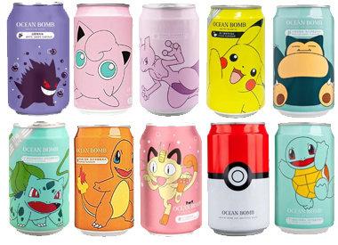 Ocean Bomb Pokémon Drinks