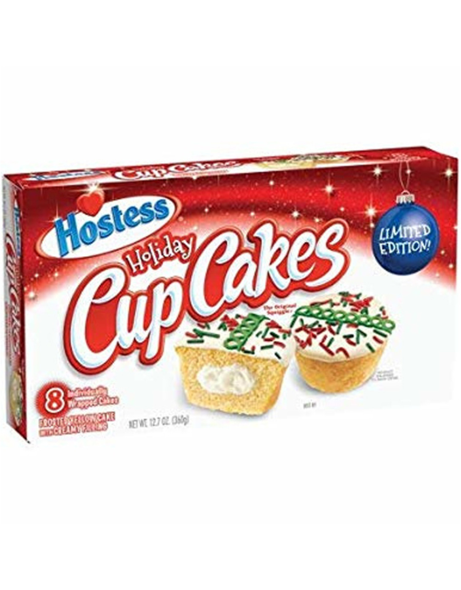 Holiday Cup Cakes - 8 individually wrapped cakes