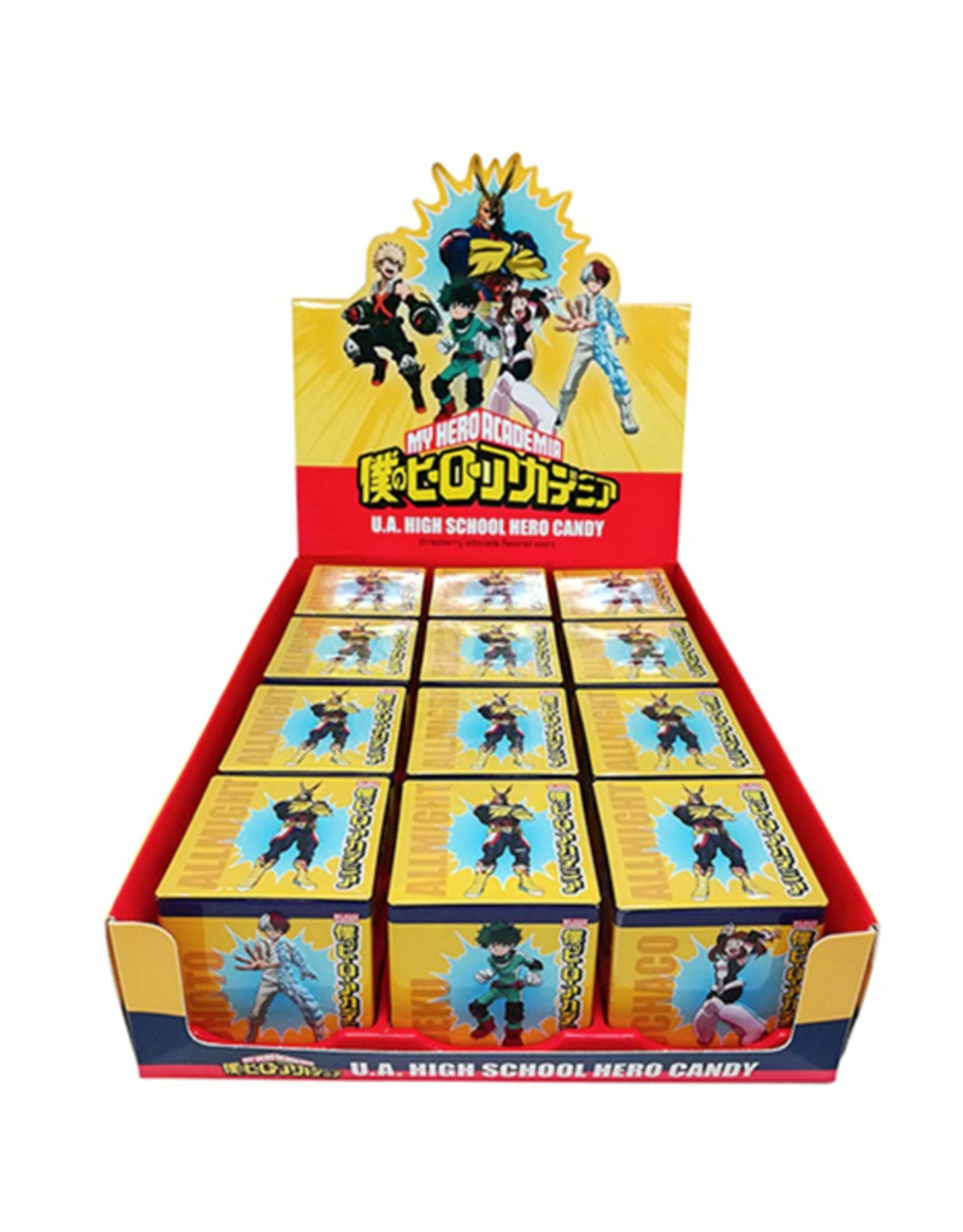 My Hero Academia Candy Tin - Strawberry Lemonade Flavored Sours - 34g