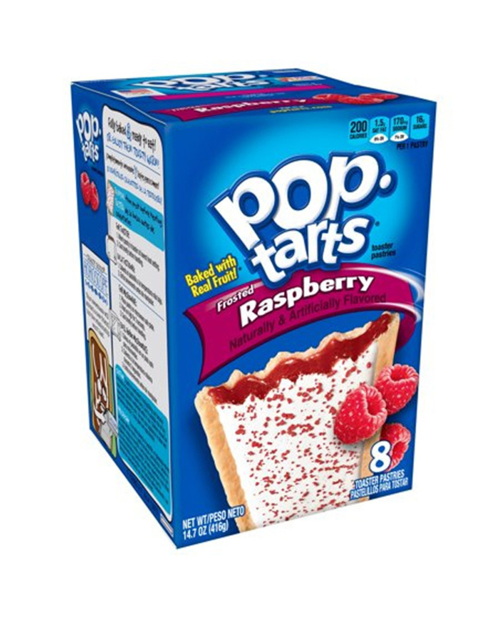 Pop-Tarts Frosted Raspberry - 8 Pack - 384g