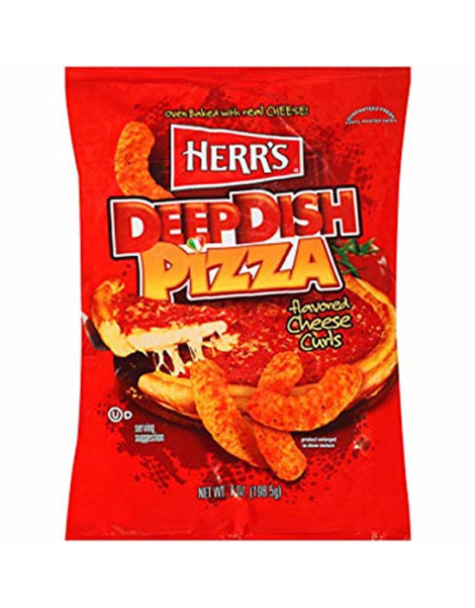 Herr's Deep Dish Pizza flavored Cheese Curls - 198g