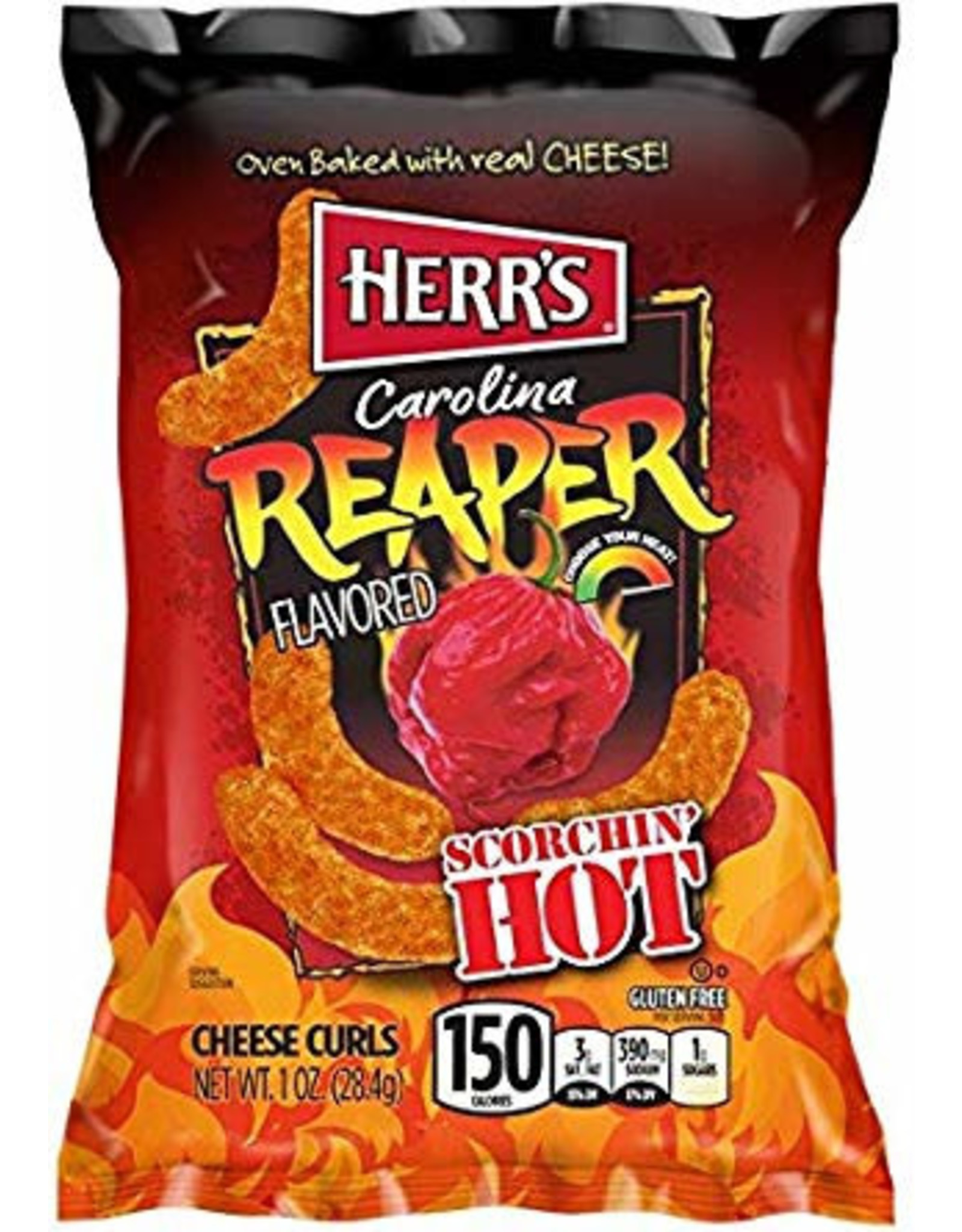 Herr's Carolina Reaper Cheese Curls - 28.4g