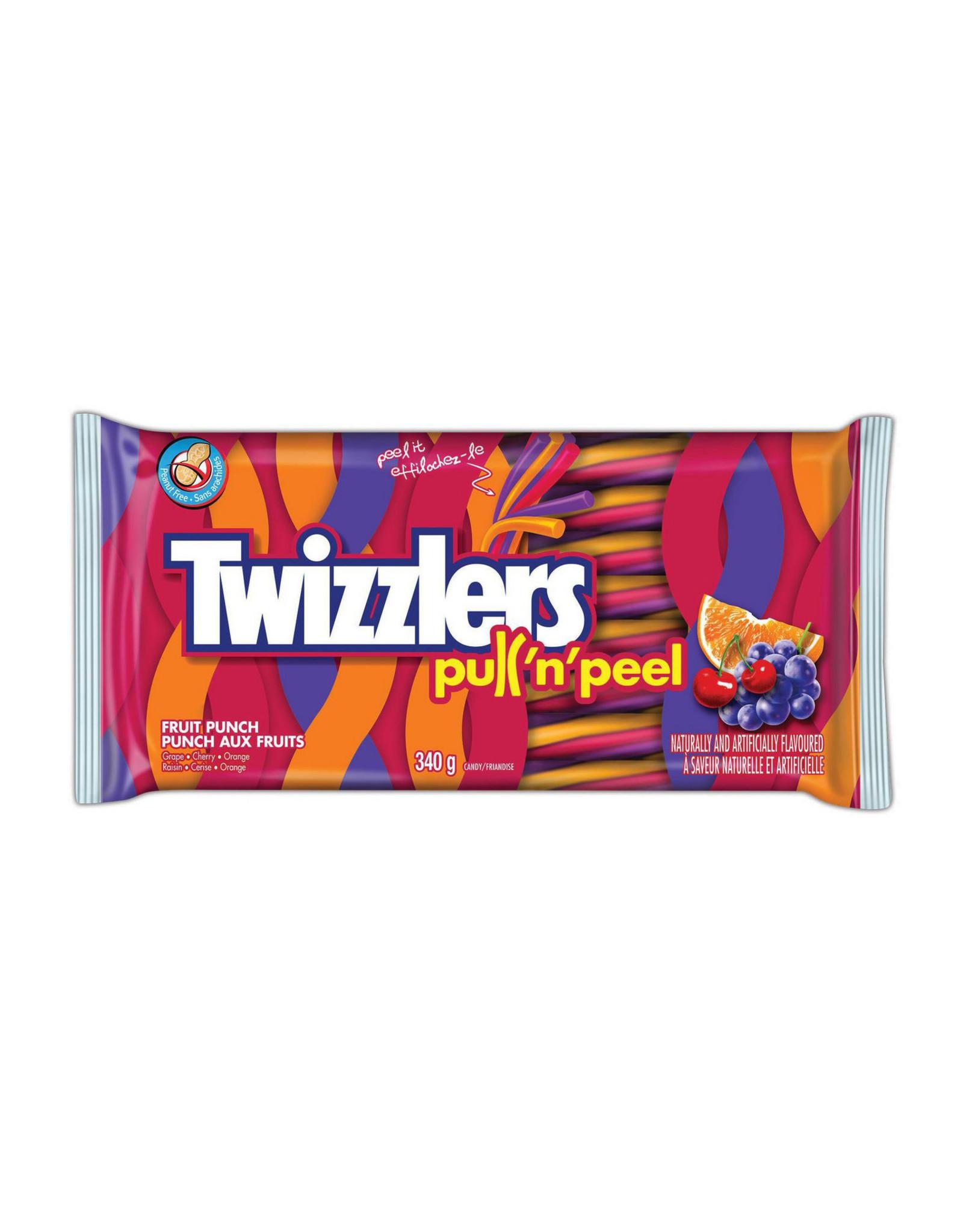 Twizzlers Pull 'n' Peel - Fruit Punch - LARGE - 340g