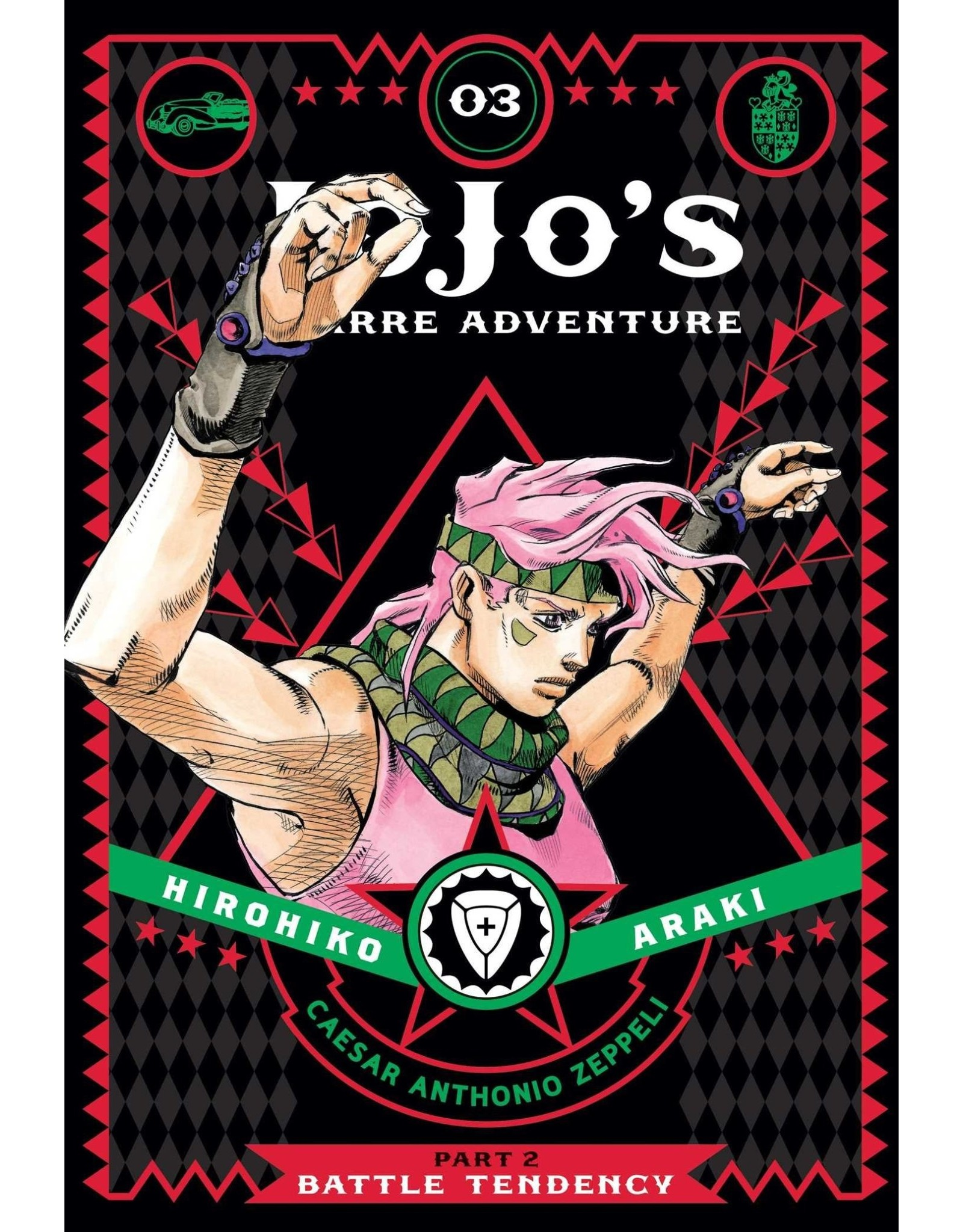 Jojo's Bizarre Adventure - Part 2: Battle Tendency - Volume 3 - Hardcover (Engelstalig)