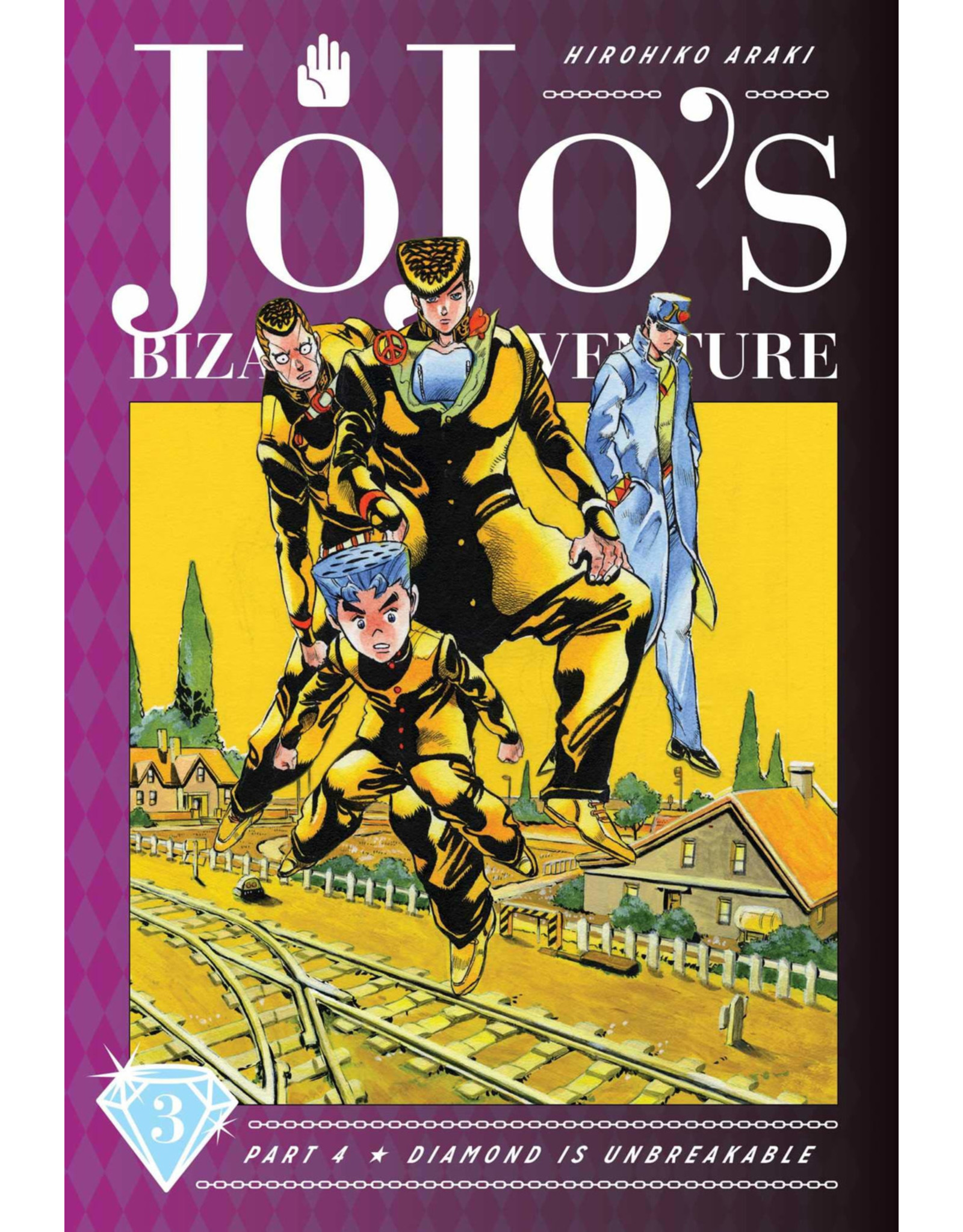 Jojo's Bizarre Adventure - Part 4: Diamond is Unbreakable - Volume 3 - Hardcover (English Version)