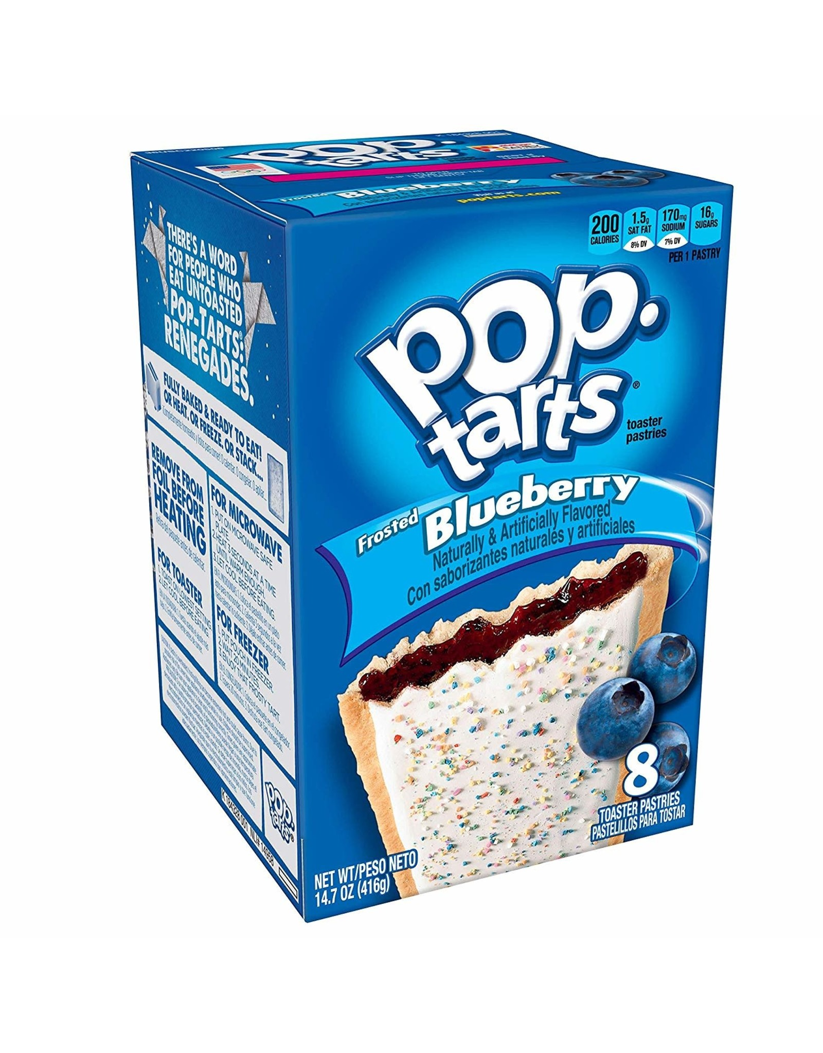 Pop-Tarts Frosted Blueberry - 8 Pack