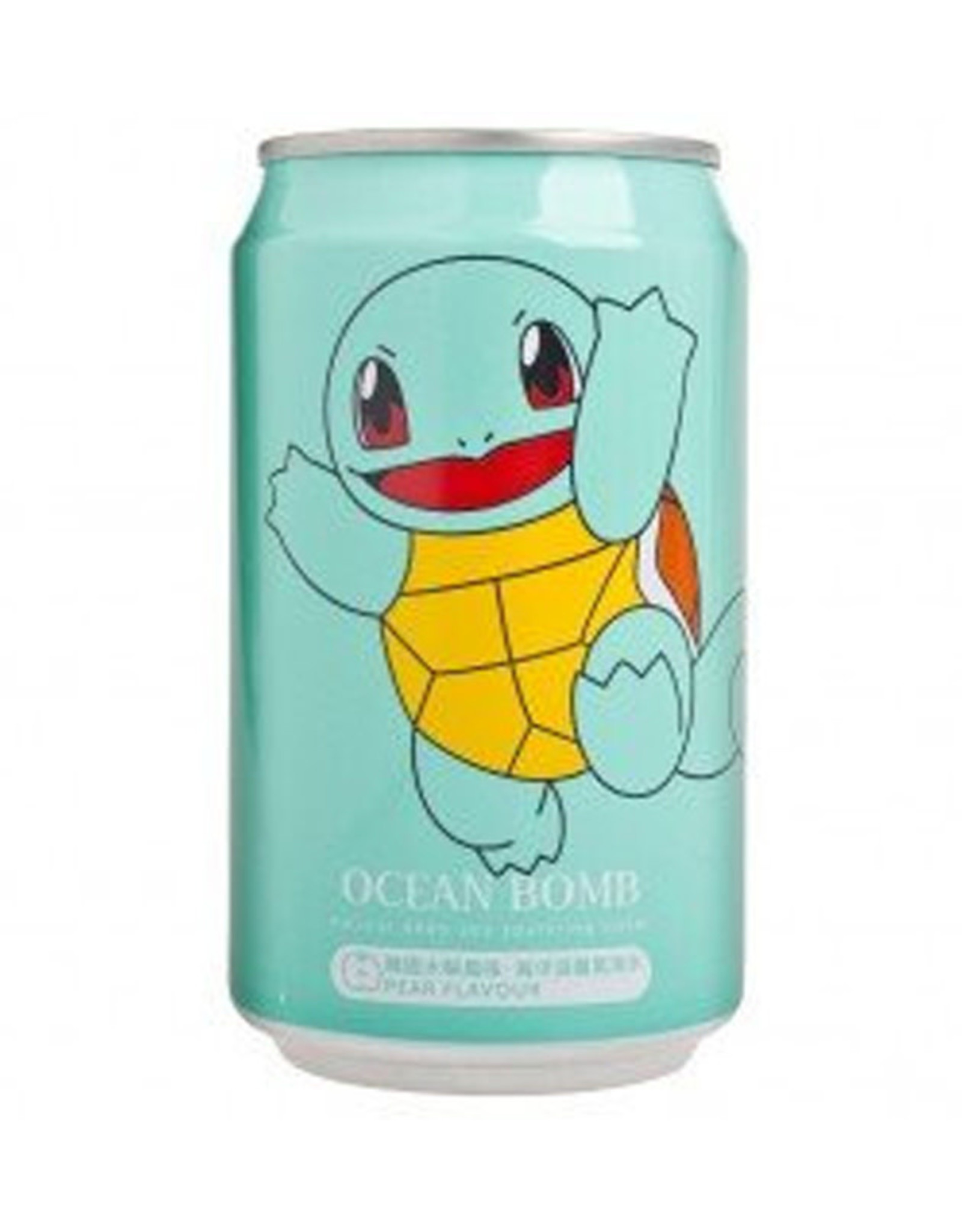 Ocean Bomb Pokémon Drink - Squirtle - Pear Flavored - Deep Sea Sparkling Water