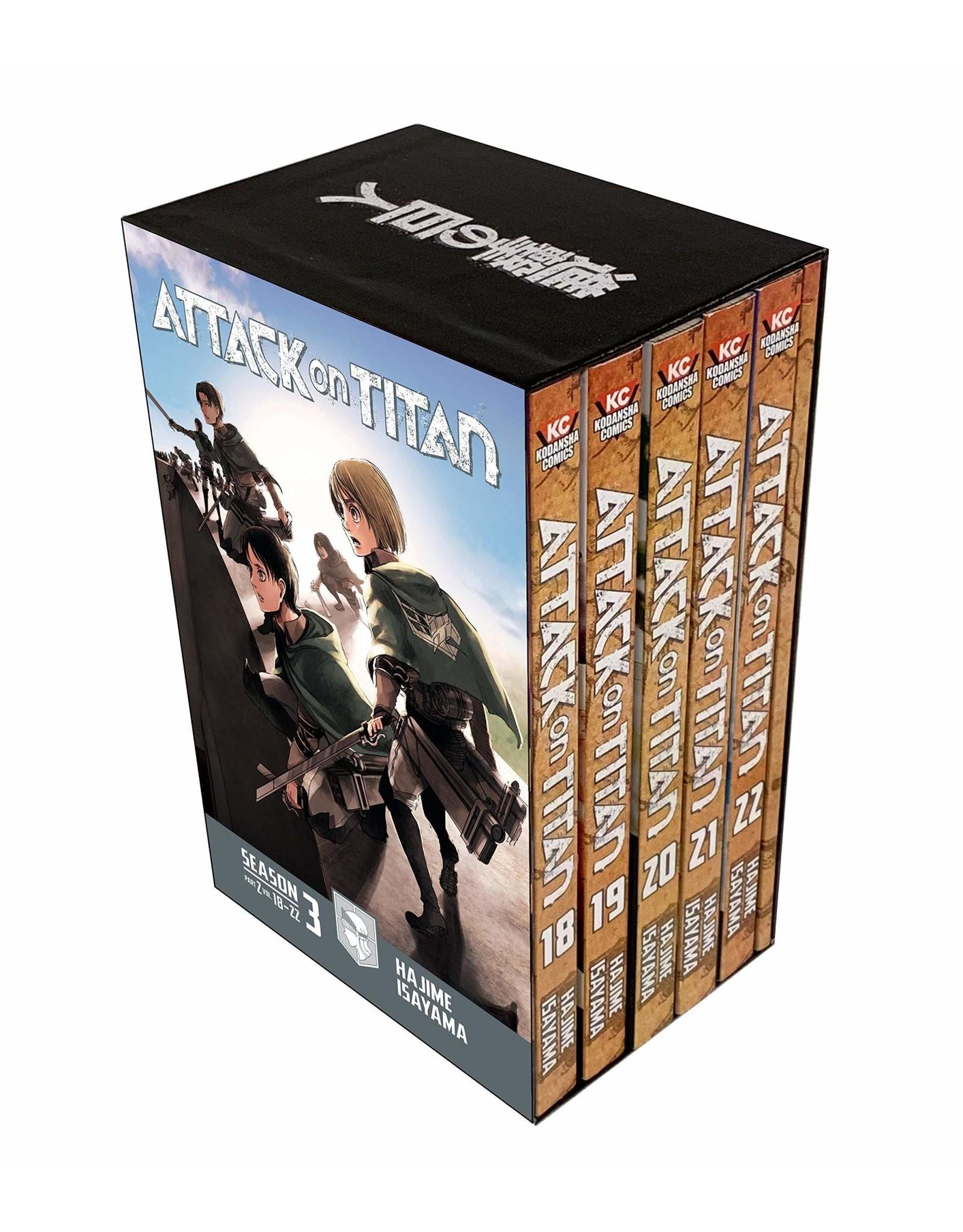 Attack on Titan - Season 3 Part 2 - Volumes 18 - 22 - Manga Box Set (Engelstalig)