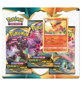 Pokemon Sword & Shield: Darkness Ablaze - 3-booster Blister Pack (Flareon)