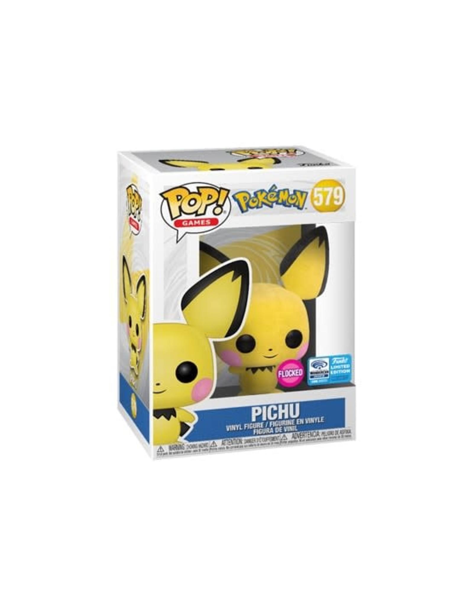 Pokémon - Funko Pop! Games 579 - Pichu Flocked - 2020 Limited Edition