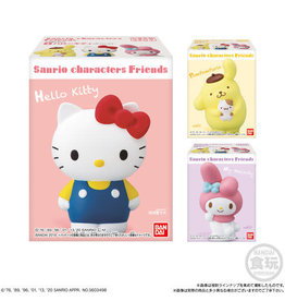 Sanrio Characters Friends - Kauwgom + Collectible Mini Figure