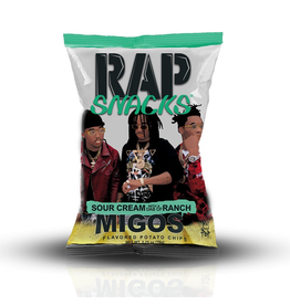 Rap Snacks - Migos - Sour Cream with a dab of Ranch - Potato Chips - 78g