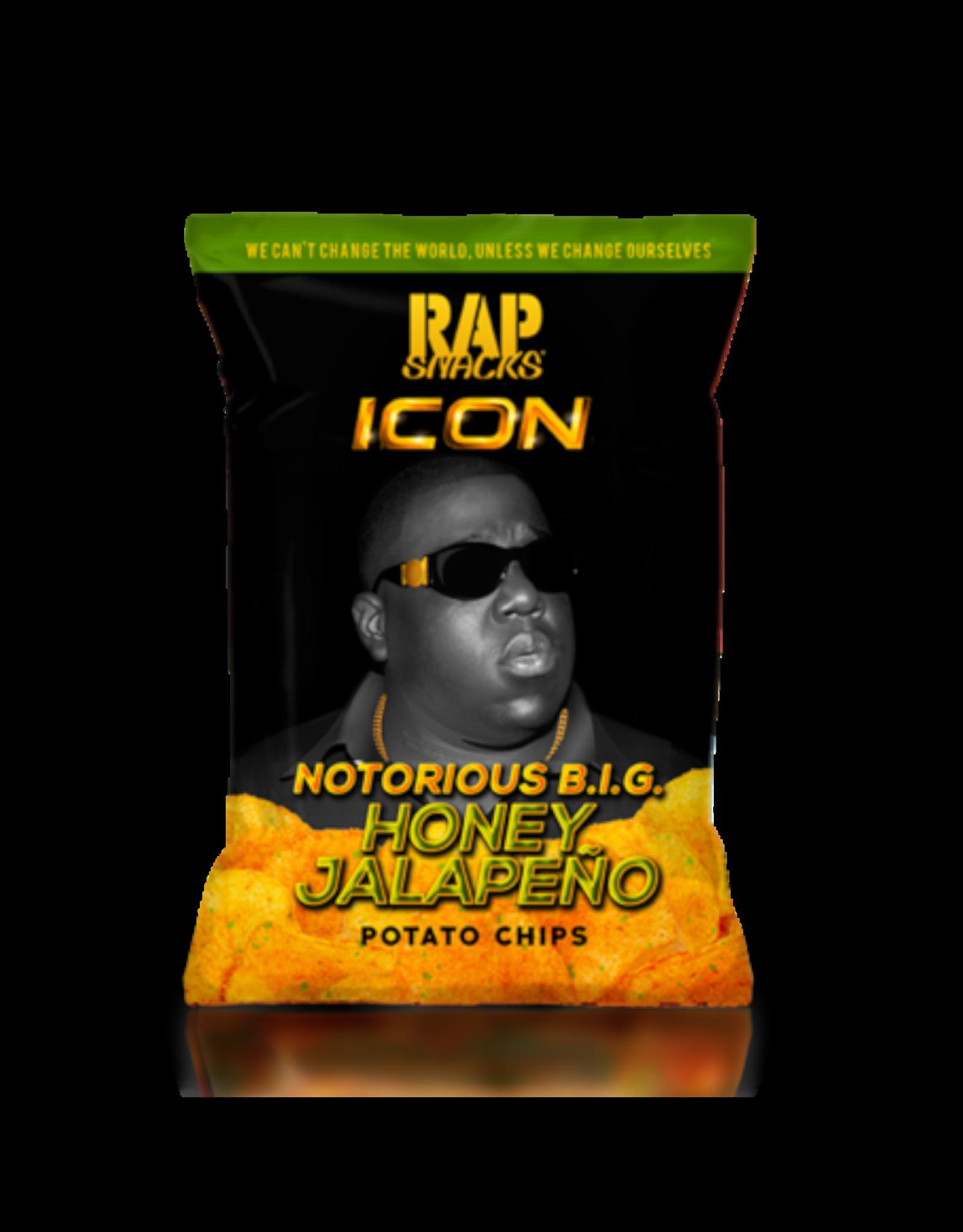 Rap Snacks ICON - Notorious B.I.G. - Honey Jalapeño Potato Chips - 78g